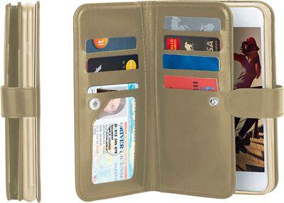 Gear Beast Dual-Folio Wallet iPhone 7 Plus Case Gold - iPhone 7 Plus - Gear Beast Electronic Cases