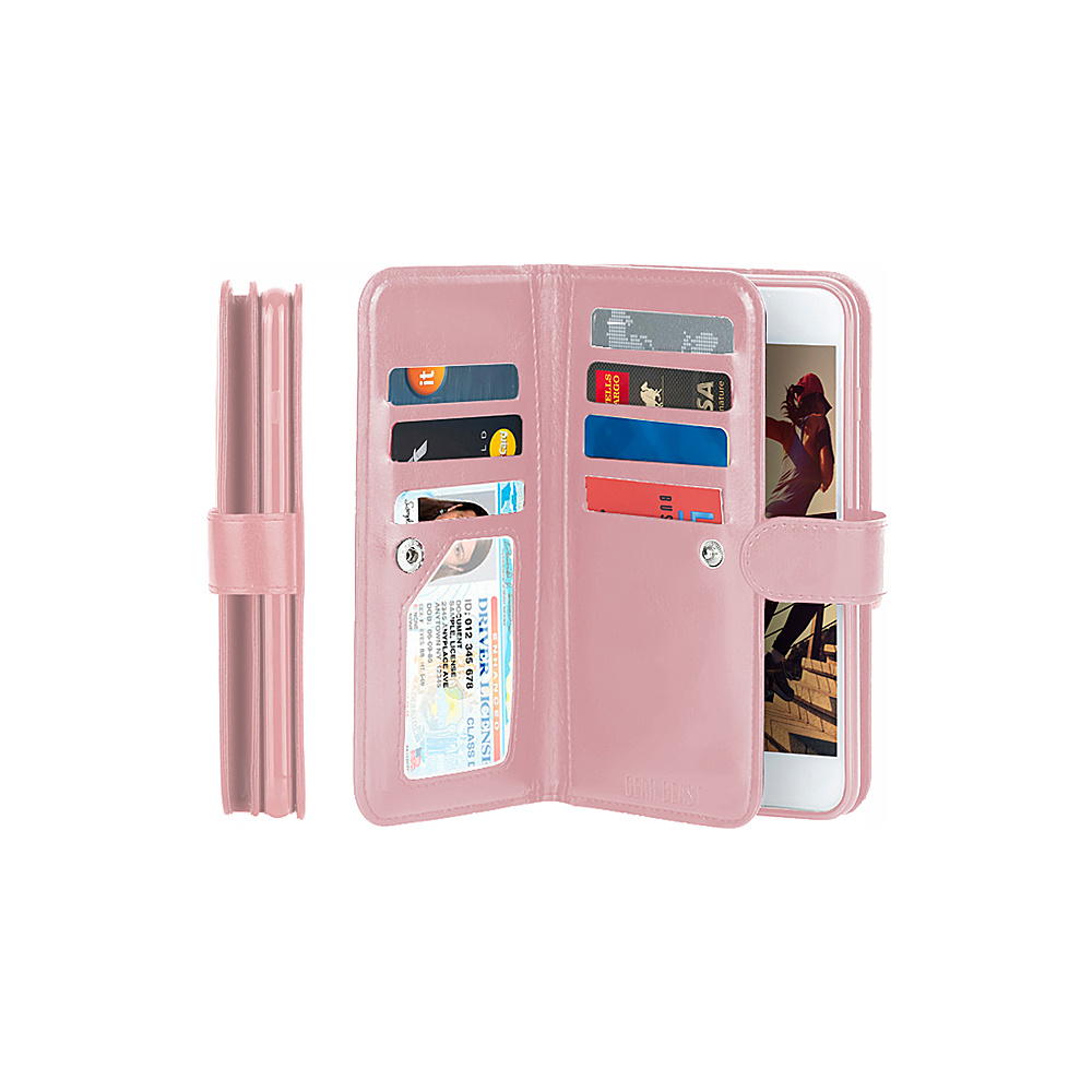 Gear Beast Dual Folio Wallet iPhone 7 Plus Case Pink iPhone 7 Plus Gear Beast Electronic Cases