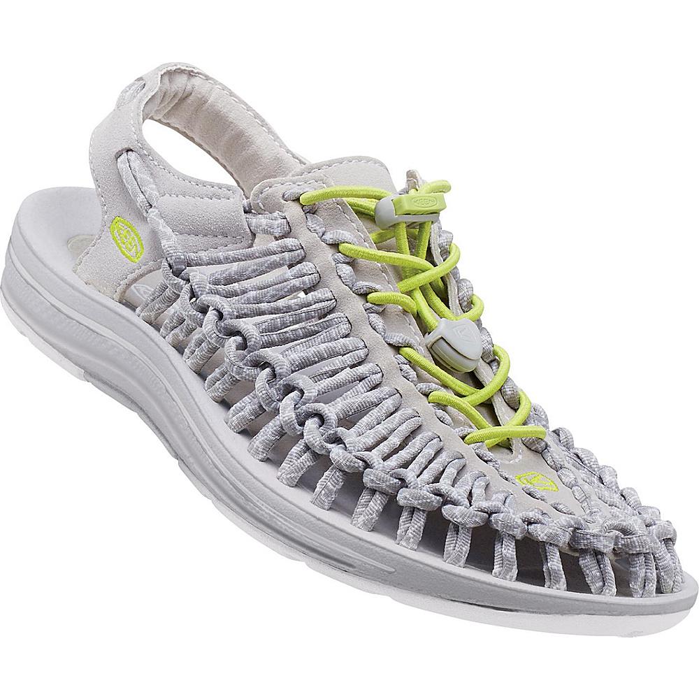 KEEN Womens UNEEK Round Cord Sandal 8.5 - Vapor/Chartreuse - KEEN Womens Footwear - Apparel & Footwear, Women's Footwear