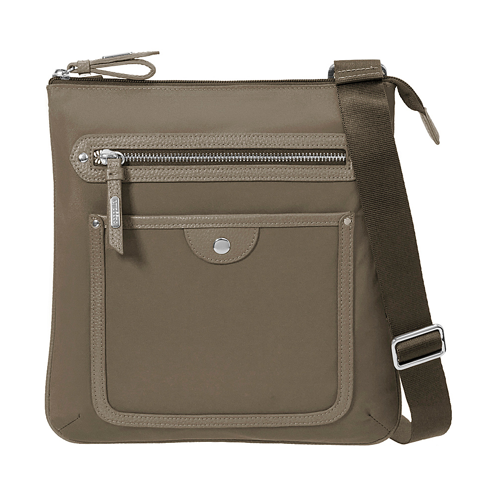 baggallini Highland Slim Crossbody Walnut - baggallini Fabric Handbags - Handbags, Fabric Handbags