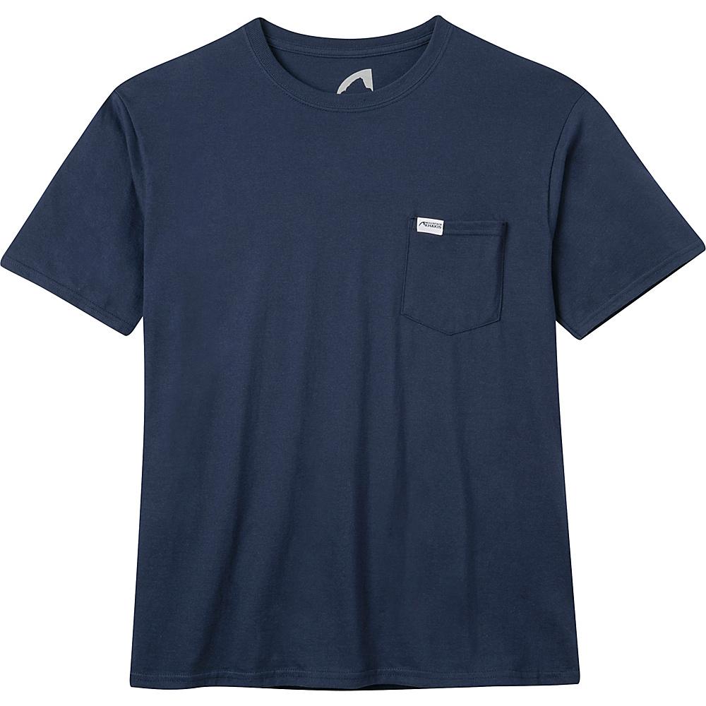 Mountain Khakis Pocket Logo T-Shirt L - Navy - Mountain Khakis Mens Apparel - Apparel & Footwear, Men's Apparel