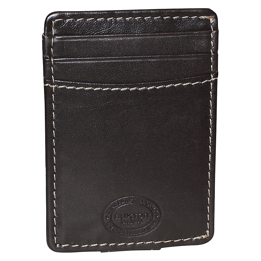 Buxton RFID Front Pocket Magnetic Money Clip Brown - Buxton Mens Wallets - Work Bags & Briefcases, Men's Wallets