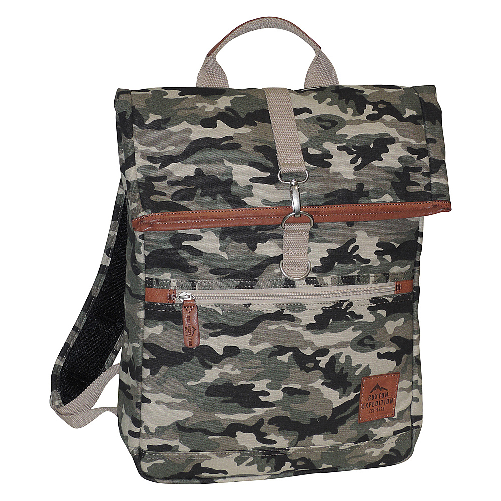 Buxton Expedition II Huntington Gear Fold-Over Backpack Camouflage - Buxton Business & Laptop Backpacks - Backpacks, Business & Laptop Backpacks