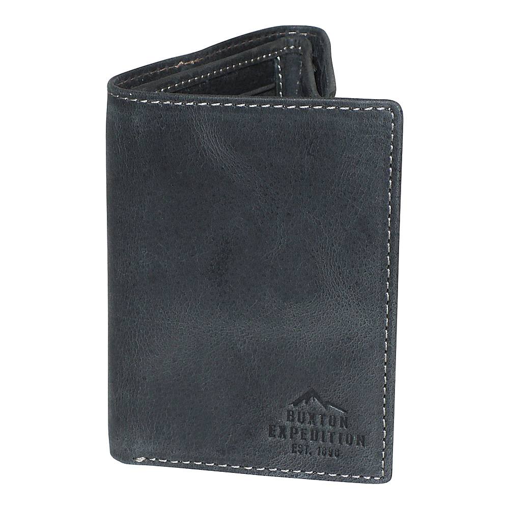 Buxton Expedition II RFID Three-Fold Black - Buxton Mens Wallets - Work Bags & Briefcases, Men's Wallets
