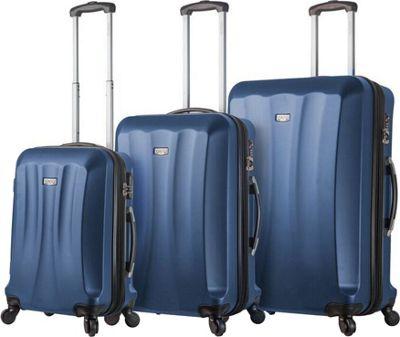 Mia Viaggi ITALY Siena Hardside 3 Piece Spinner Set Blue - Mia Viaggi ITALY Luggage Sets