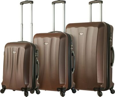 Mia Viaggi ITALY Siena Hardside 3 Piece Spinner Set Brown - Mia Viaggi ITALY Luggage Sets