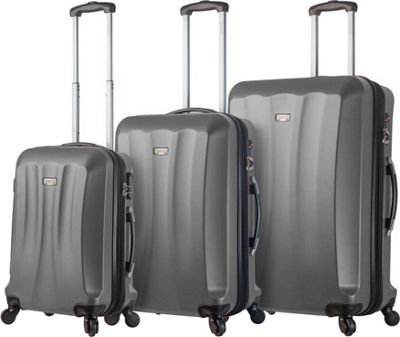 Mia Viaggi ITALY Siena Hardside 3 Piece Spinner Set Silver - Mia Viaggi ITALY Luggage Sets