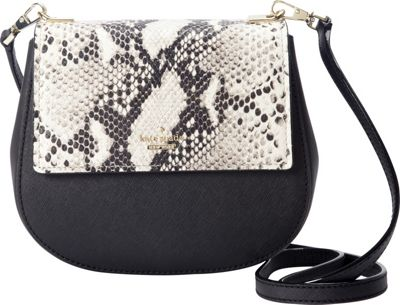 kate spade new york Cameron Street Snake Small Byrdie Crossbody Black - kate spade new york Designer Handbags
