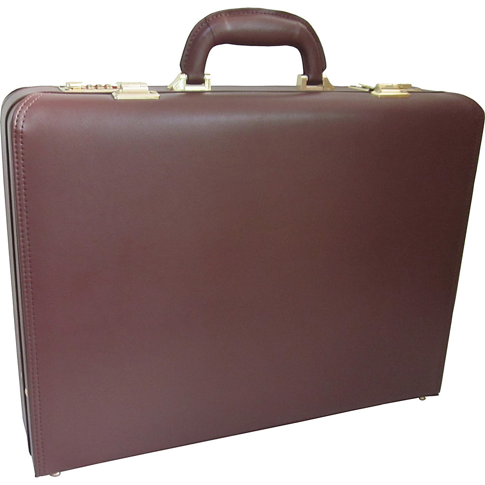 AmeriLeather Caldwell Executive Attache Case Brown - AmeriLeather Non-Wheeled Business Cases - Work Bags & Briefcases, Non-Wheeled Business Cases