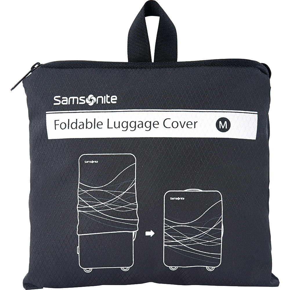 Samsonite Travel Accessories Foldable Luggage Cover Medium Black Samsonite Travel Accessories Luggage Accessories