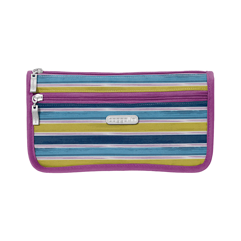 baggallini Large Wedge Cosmetic Case - Retired Colors Tropical Stripe - baggallini Womens SLG Other - Women's SLG, Women's SLG Other