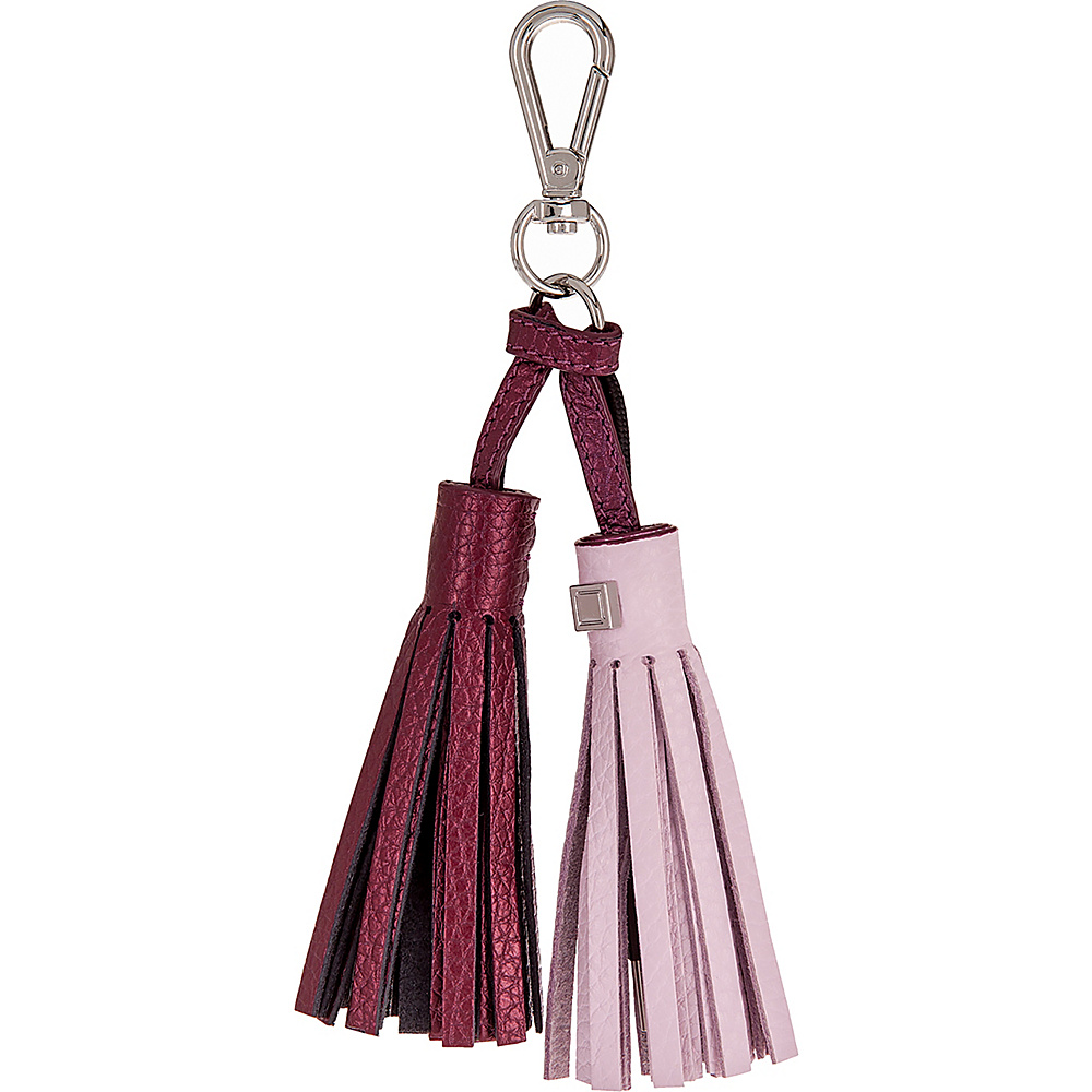 Lodis Sara Tassel Key Fob with Charging Cable Iced Violet/Beet - Lodis Portable Batteries & Chargers - Technology, Portable Batteries & Chargers