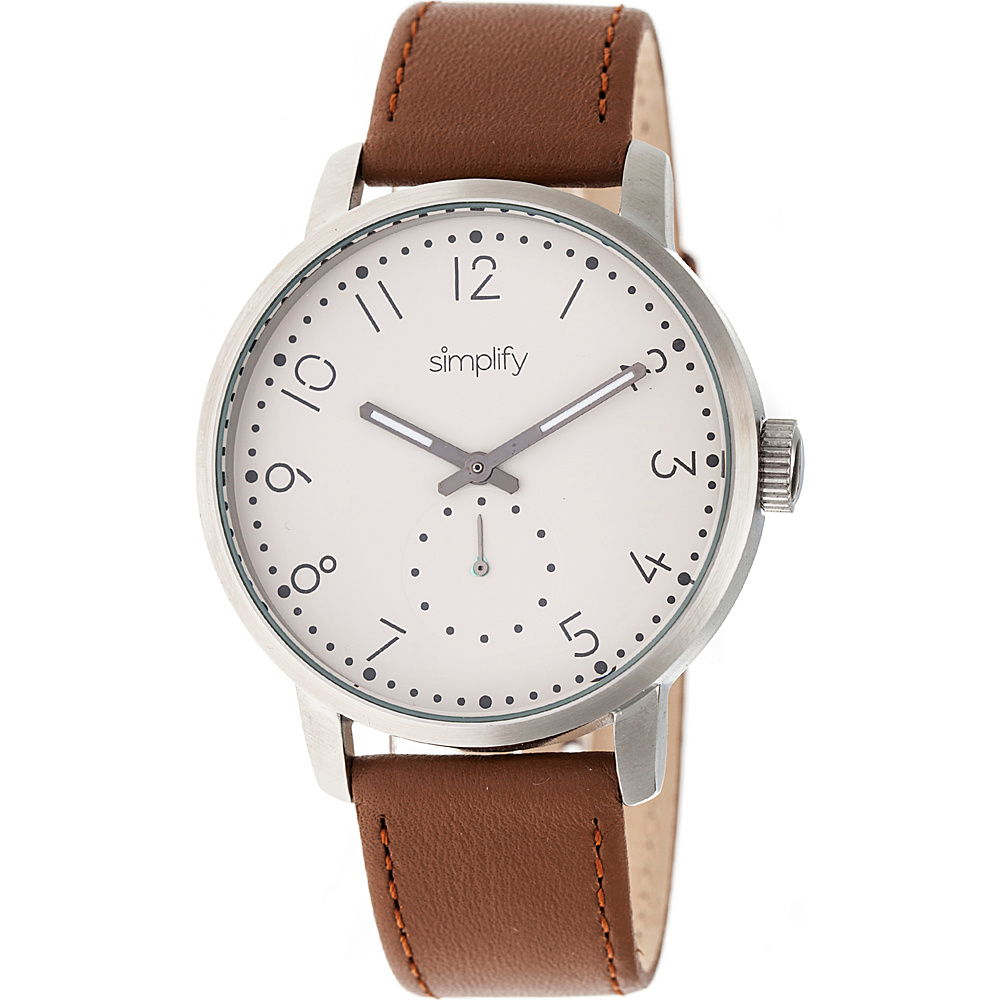 Simplify The 3400 Unisex Watch Brown Silver Khaki Simplify Watches