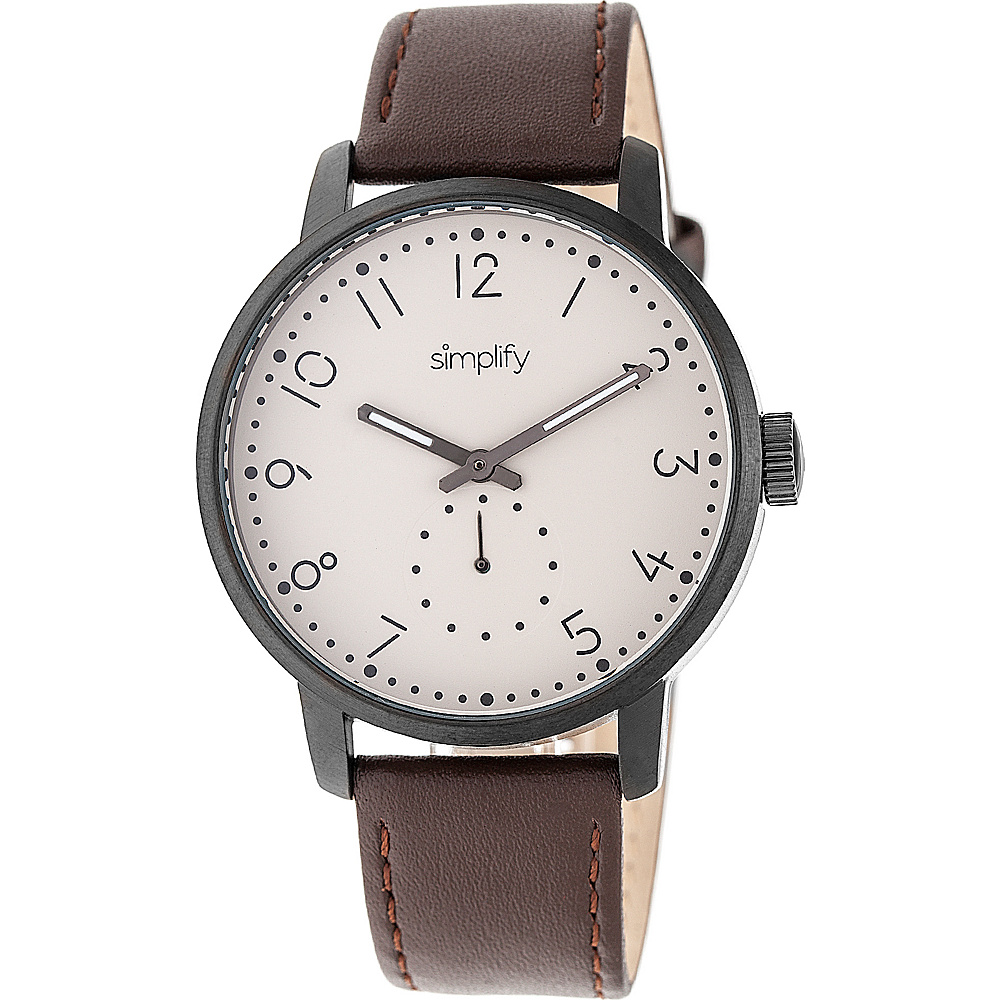 Simplify The 3400 Unisex Watch Dark Brown Gunmetal Khaki Simplify Watches