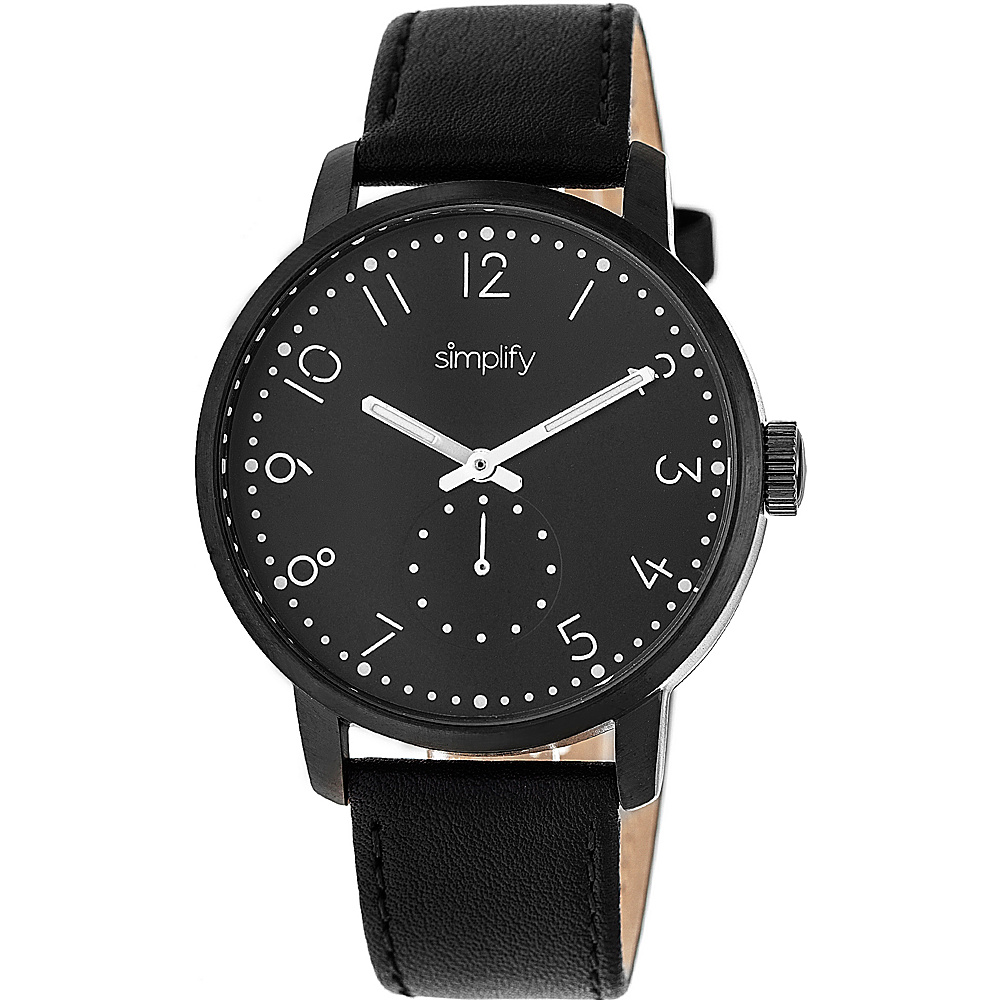 Simplify The 3400 Unisex Watch Black Simplify Watches