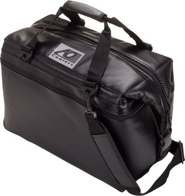 AO Coolers 24 Pack Carbon Fiber Soft Cooler Black - AO Coolers Outdoor Coolers