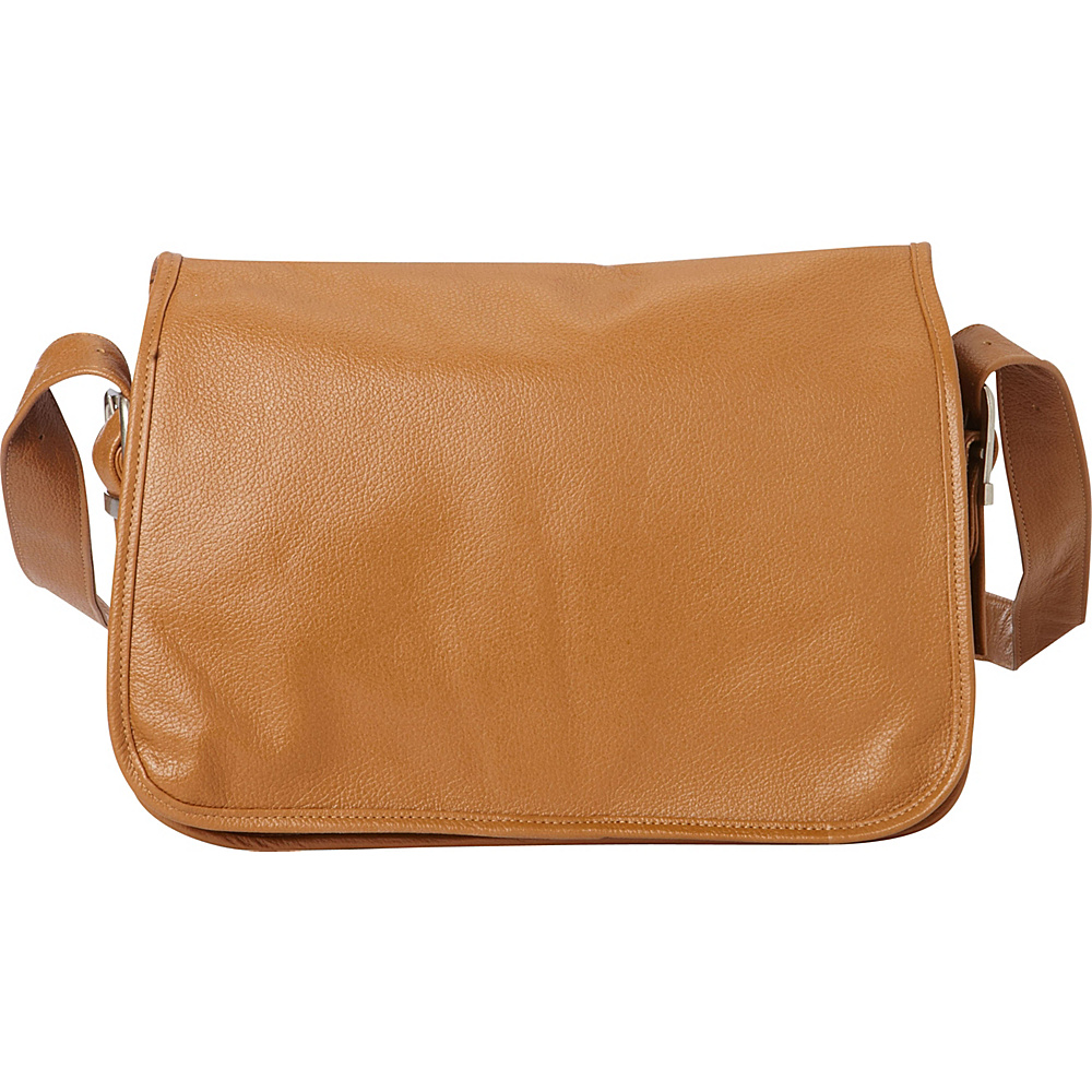 Piel Flap-Over Leather Handbag Saddle - Piel Leather Handbags - Handbags, Leather Handbags