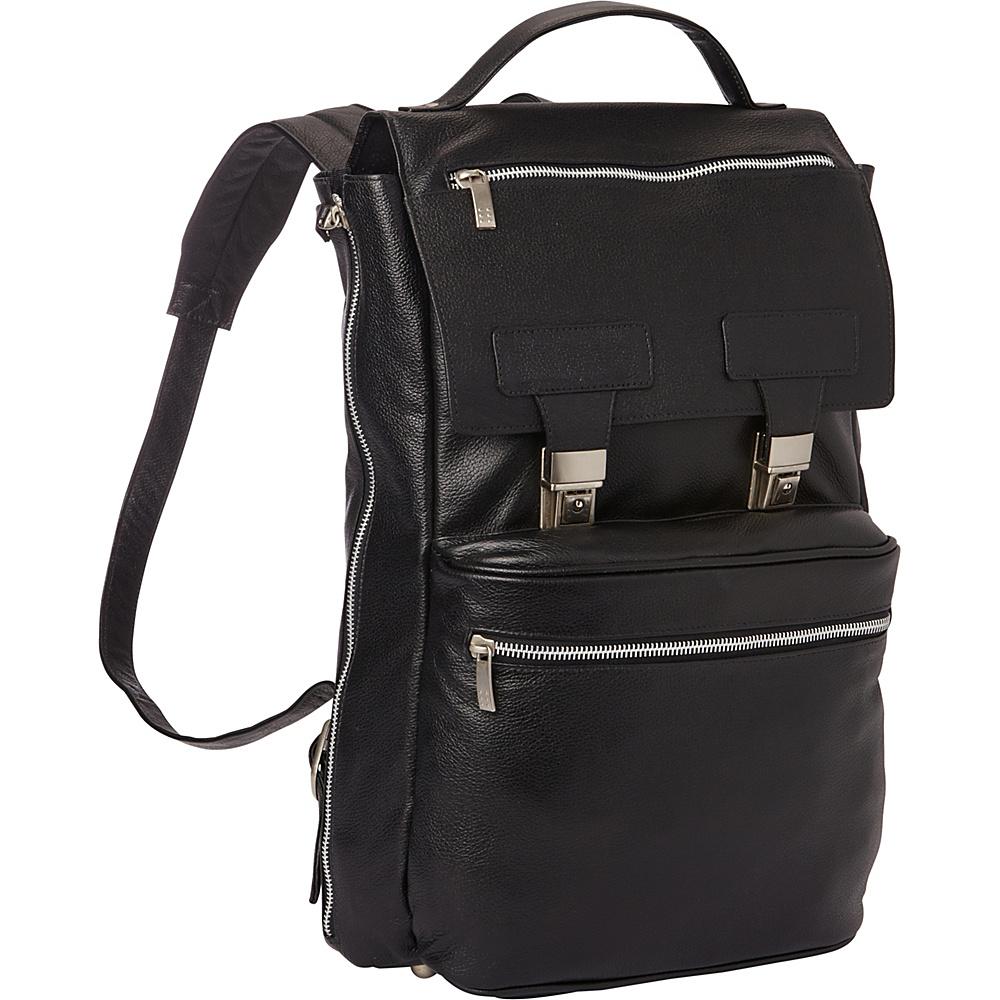 Piel Leather Vertical Backpack Black - Piel Business & Laptop Backpacks - Backpacks, Business & Laptop Backpacks