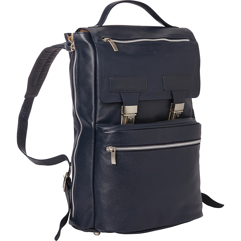 Piel Leather Vertical Backpack Navy - Piel Business & Laptop Backpacks - Backpacks, Business & Laptop Backpacks