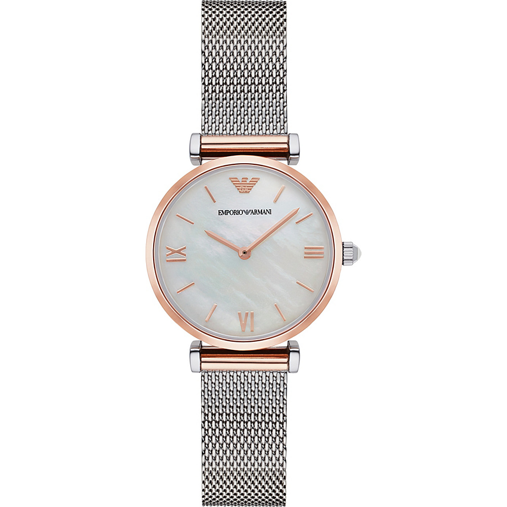 Emporio Armani Retro Watch Silver RoseGold Emporio Armani Watches