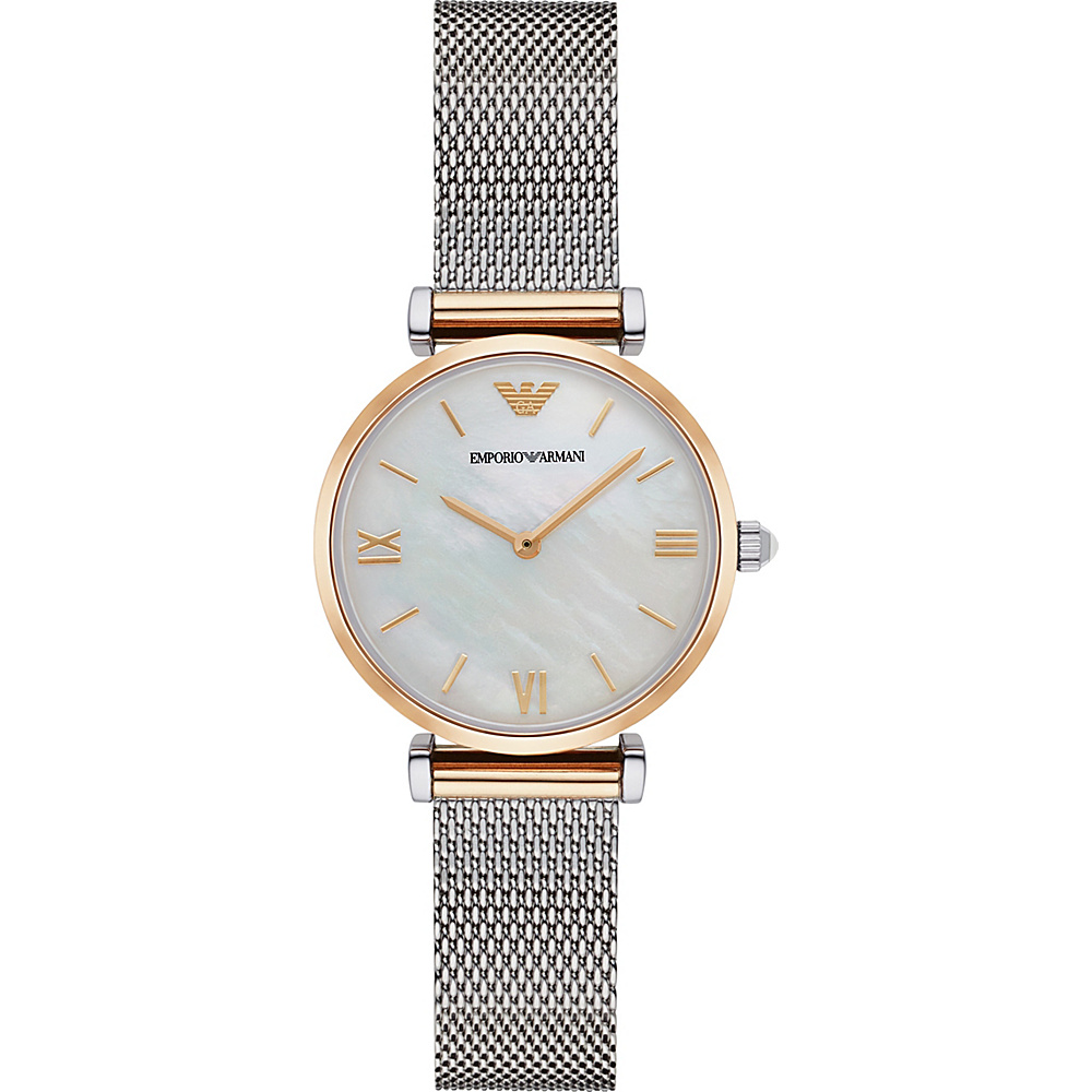 Emporio Armani Retro Watch Silver Gold Emporio Armani Watches