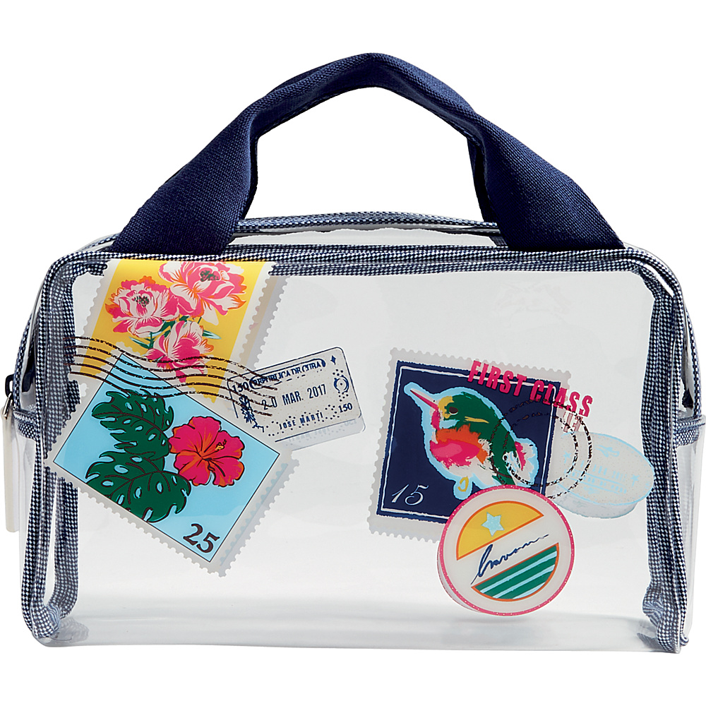 Vera Bradley Beach Cosmetic Oxford Postage Stamps - Vera Bradley Womens SLG Other - Women's SLG, Women's SLG Other