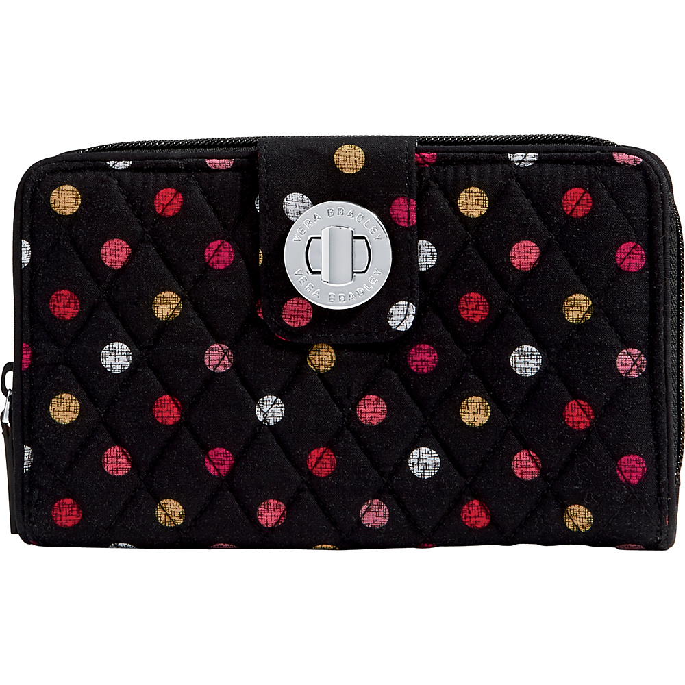 Vera Bradley RFID Turnlock Wallet Havana Dots - Vera Bradley Womens Wallets - Women's SLG, Women's Wallets