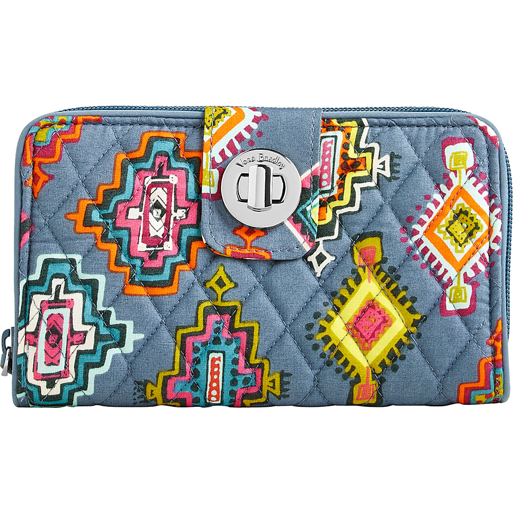 Vera Bradley RFID Turnlock Wallet Painted Medallions - Vera Bradley Womens Wallets - Women's SLG, Women's Wallets