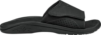 OluKai Mens Nalu Slide Sandal 14 - Black/Black - OluKai Men's Footwear