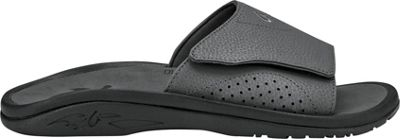 OluKai Mens Nalu Slide Sandal 14 - Dark Shadow/Dark Shadow - OluKai Men's Footwear