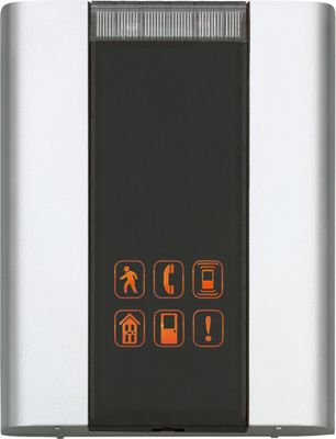Honeywell Premium Portable Door Chime, 6 Push Buttons Brushed Silver - Honeywell Smart Home Automation