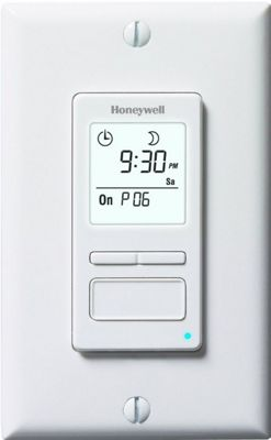 Honeywell 7-Day Solar Programmable Timer for Lights & Motors White - Honeywell Smart Home Automation
