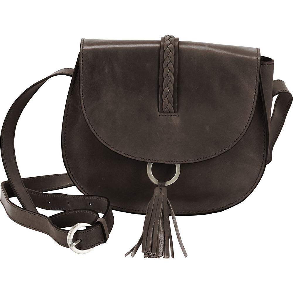 Hadaki Ring Saddle Distressed Gray - Hadaki Leather Handbags - Handbags, Leather Handbags
