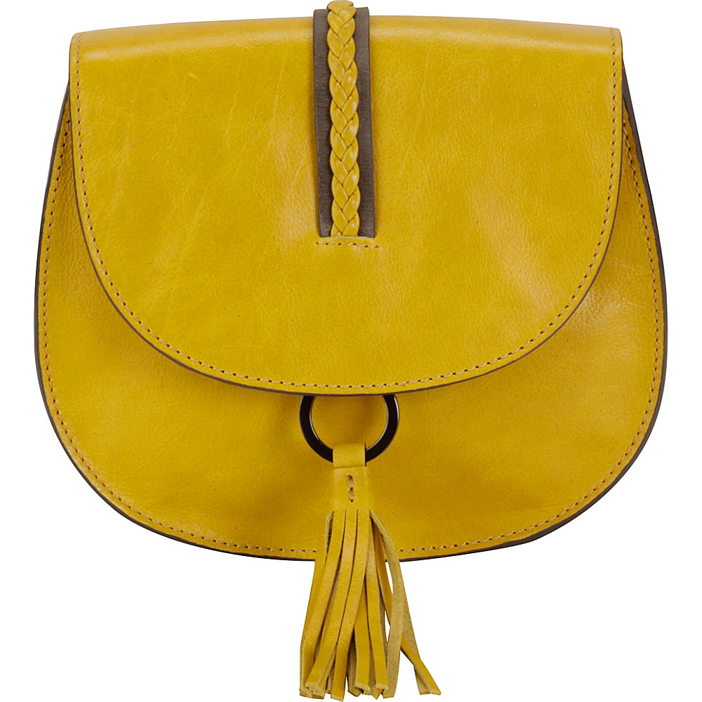 Hadaki Ring Saddle Tango Yellow/Distressed Gray - Hadaki Leather Handbags - Handbags, Leather Handbags