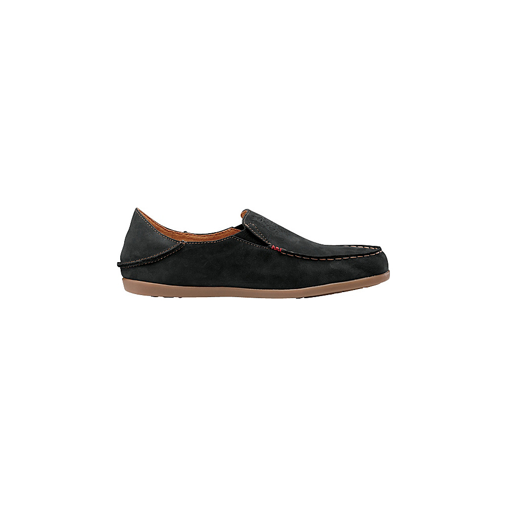 OluKai Womens Nohea Nubuck Slip-On 5 - Black/Tan - OluKai Womens Footwear - Apparel & Footwear, Women's Footwear