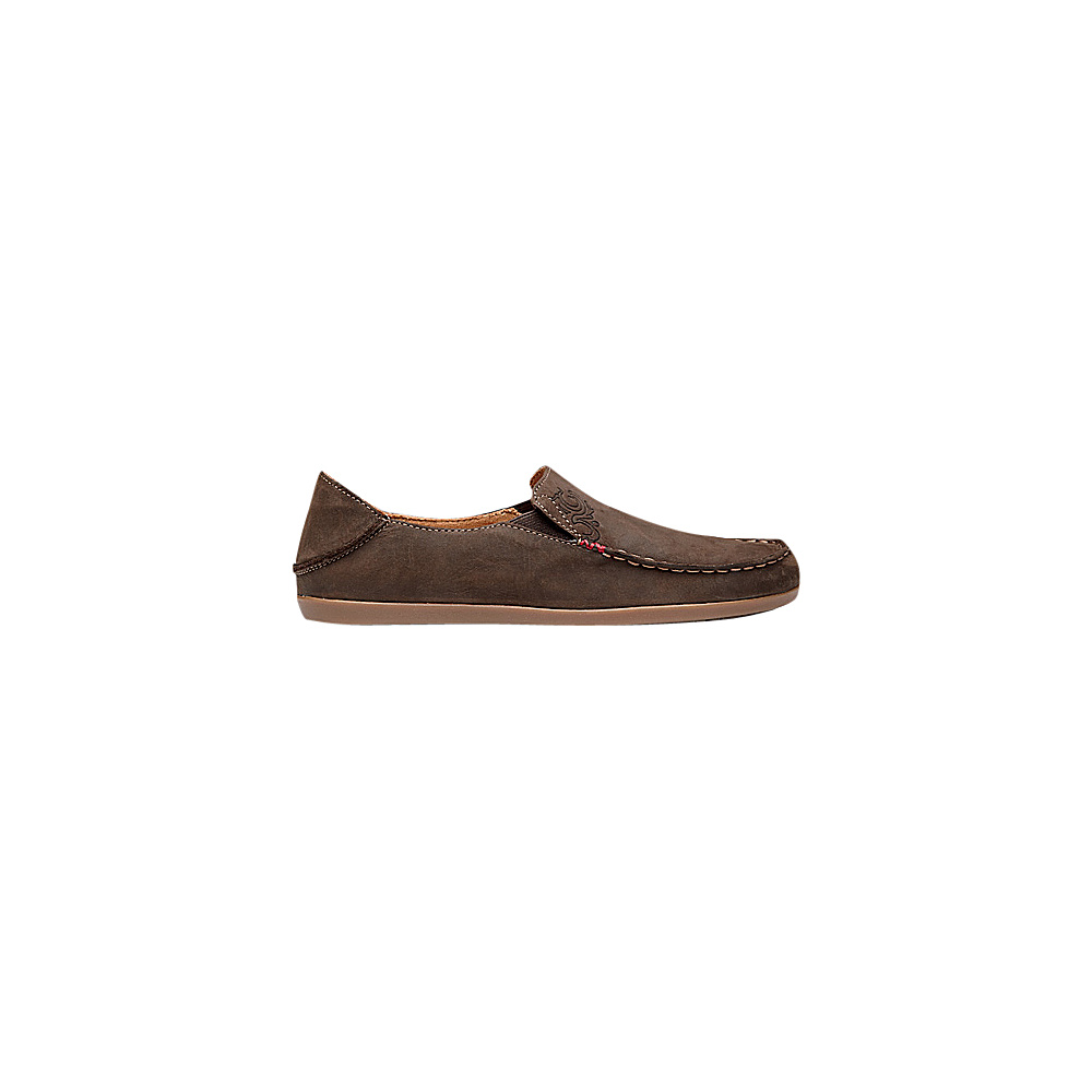 OluKai Womens Nohea Nubuck Slip-On 5 - Dark Java/Tan - OluKai Womens Footwear - Apparel & Footwear, Women's Footwear