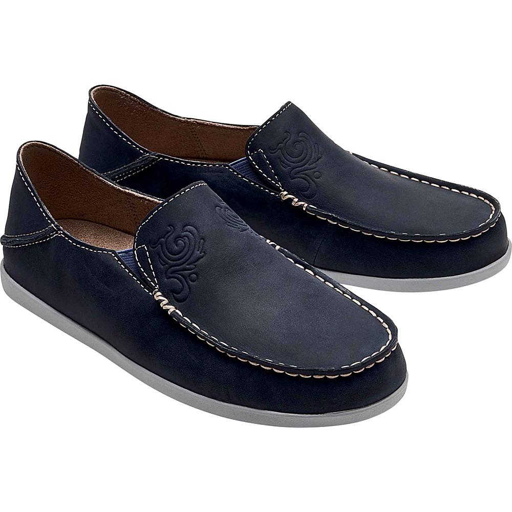 OluKai Womens Nohea Nubuck Slip-On 5 - Vintage Indigo/Pale Grey - OluKai Womens Footwear - Apparel & Footwear, Women's Footwear