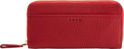 TUSK LTD Single Zip Gusseted Clutch Red - TUSK LTD Women's Wallets