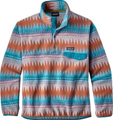 Patagonia Mens Lightweight Synchilla Snap-T Pullover L - Laughing Waters: Filter Blue - Patagonia Men's Apparel
