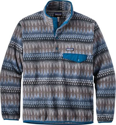 Patagonia Mens Lightweight Synchilla Snap-T Pullover L - Laughing Waters: Smolder Blue - Patagonia Men's Apparel