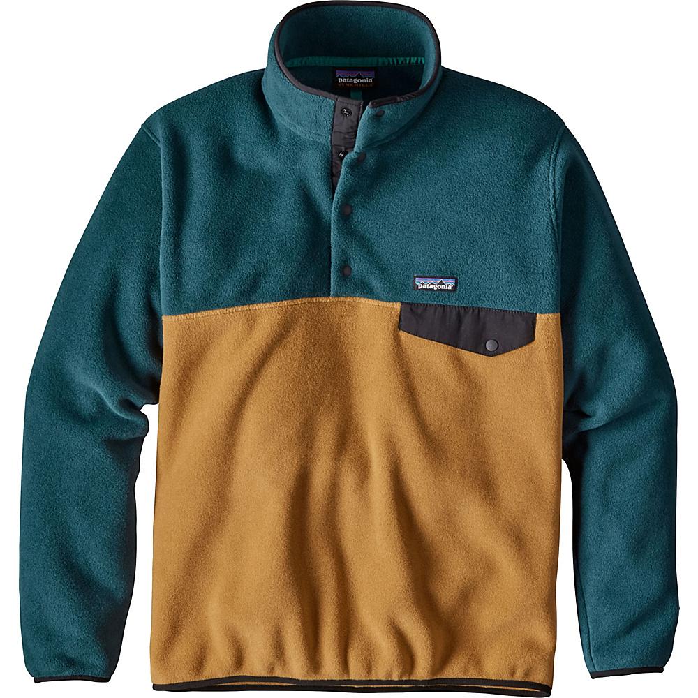 Patagonia Mens Lightweight Synchilla Snap-T Pullover M - Oaks Brown - Patagonia Mens Apparel - Apparel & Footwear, Men's Apparel