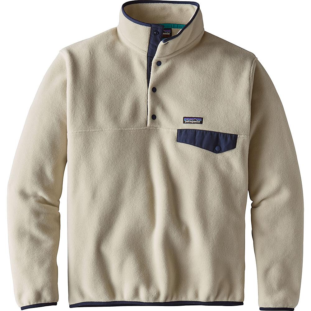Patagonia Mens Lightweight Synchilla Snap-T Pullover XL - Pelican - Patagonia Mens Apparel - Apparel & Footwear, Men's Apparel