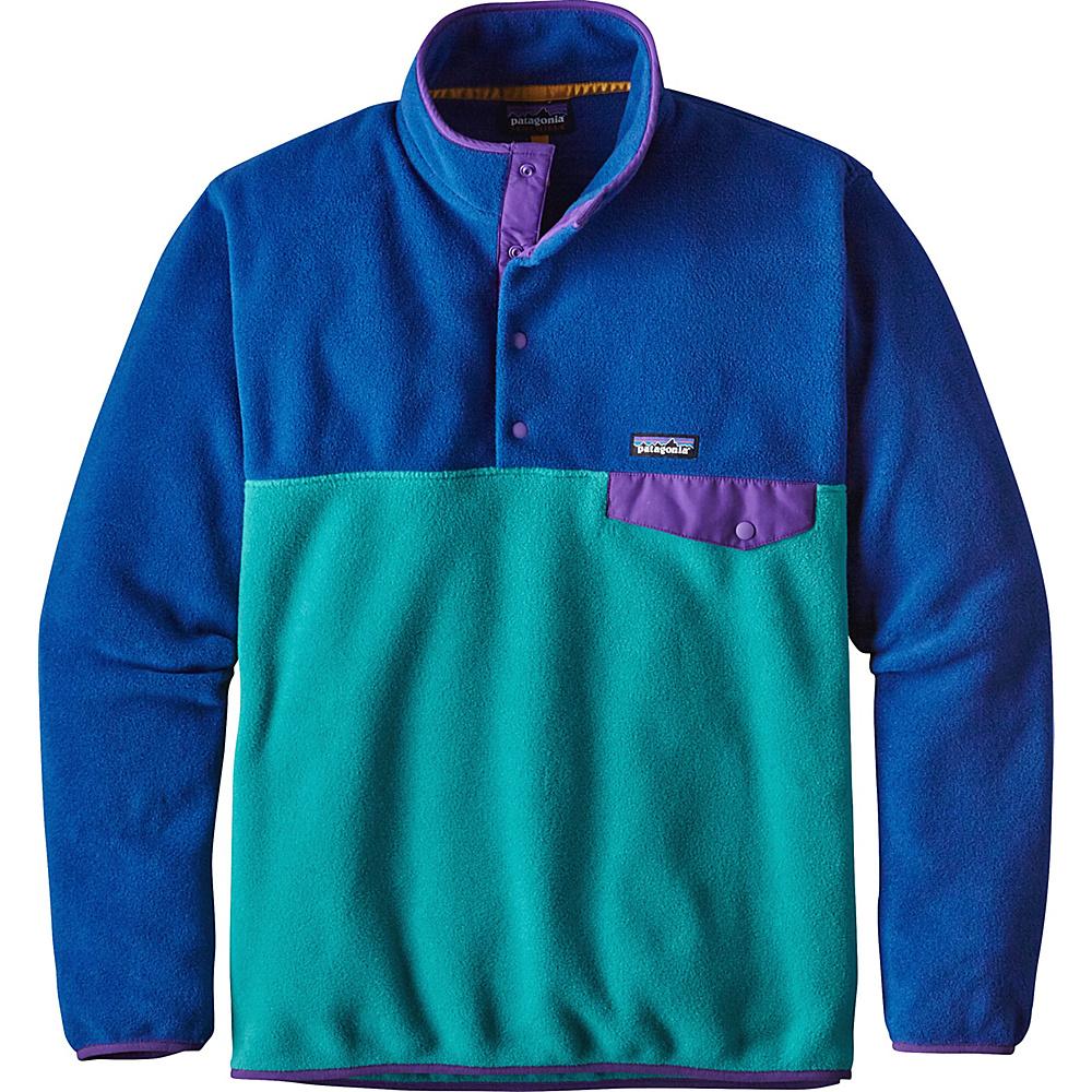 Patagonia Mens Lightweight Synchilla Snap-T Pullover M - True Teal - Patagonia Mens Apparel - Apparel & Footwear, Men's Apparel