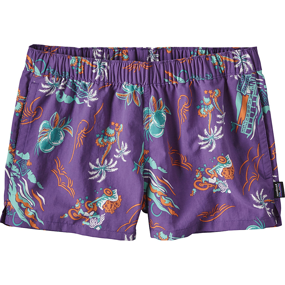 Patagonia Womens Barely Baggies Shorts S - 2.5in - C Street: Purple - Patagonia Womens Apparel - Apparel & Footwear, Women's Apparel