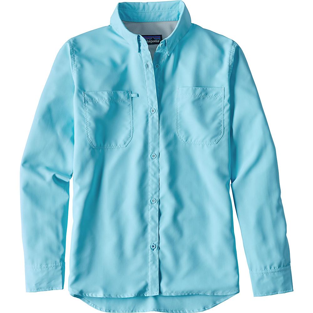 Patagonia Womens Long-Sleeved Sol Patrol Shirt XS - Cuban Blue - Patagonia Womens Apparel - Apparel & Footwear, Women's Apparel