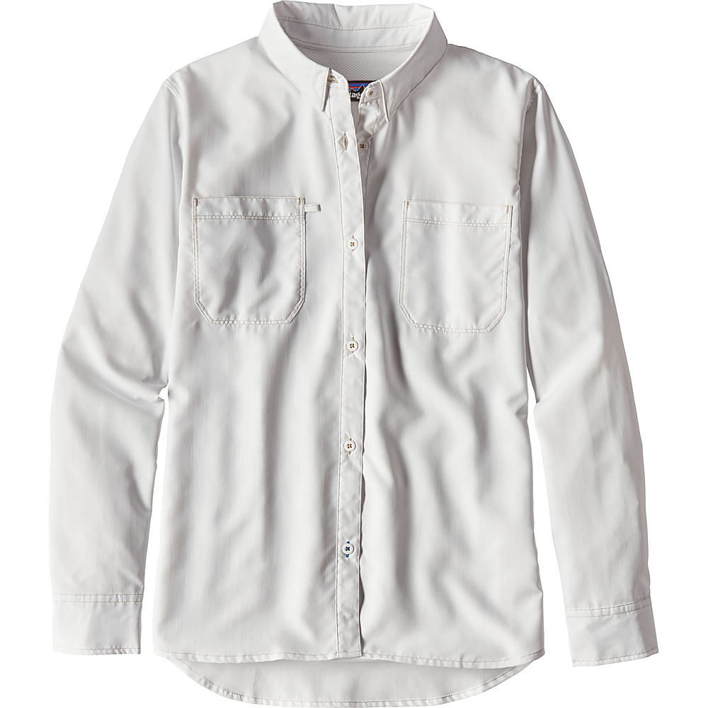 Patagonia Womens Long-Sleeved Sol Patrol Shirt S - White - Patagonia Womens Apparel - Apparel & Footwear, Women's Apparel