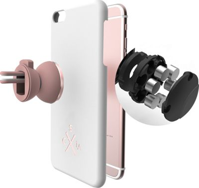 Candywirez Air Mount Combo - Car Mount & Genuine Leather Case for iPhone 6S Rose Gold/White - Candywirez Trunk and Transport Organization