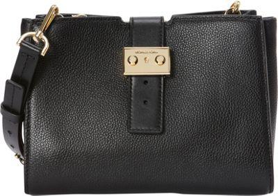 MICHAEL Michael Kors Bond Medium Messenger Black - MICHAEL Michael Kors Designer Handbags