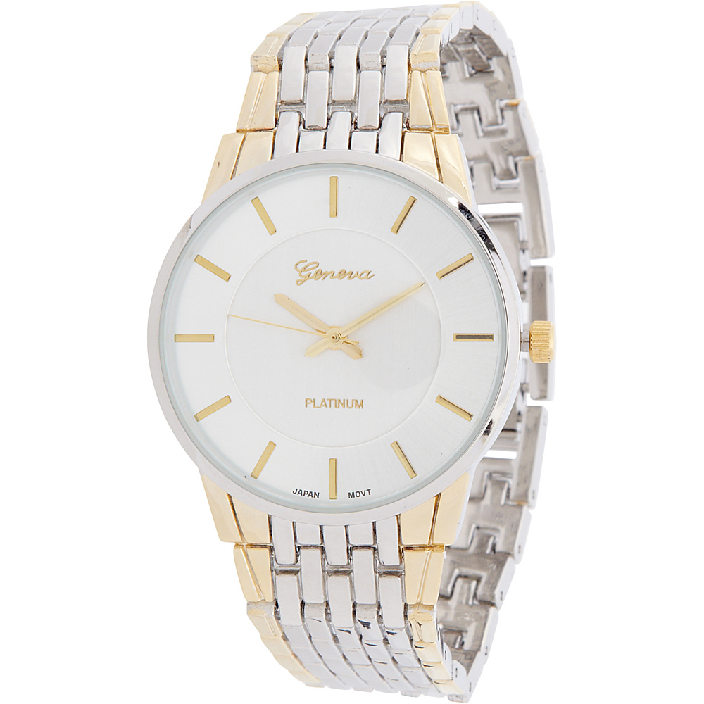 Samoe Two Tone Basket Weave Band Watch Two Tone Samoe Watches