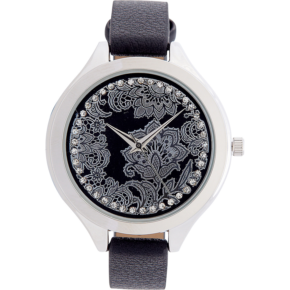 Samoe Jewel Face Watch Black Samoe Watches